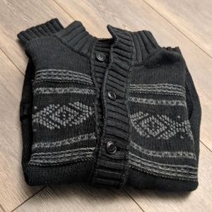 American Eagle black/gray heavy button-up cardigan